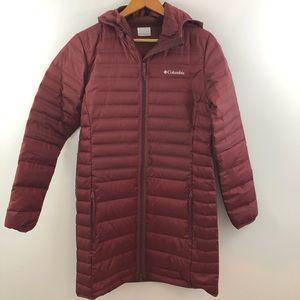 Medium COLUMBIA wine long puffer jacket